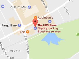 UPS Drop Off Auburn Alabama Phone Tracking Number