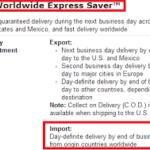 UPS Worldwide Saver Express
