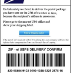 Fake USPS Tracking Number