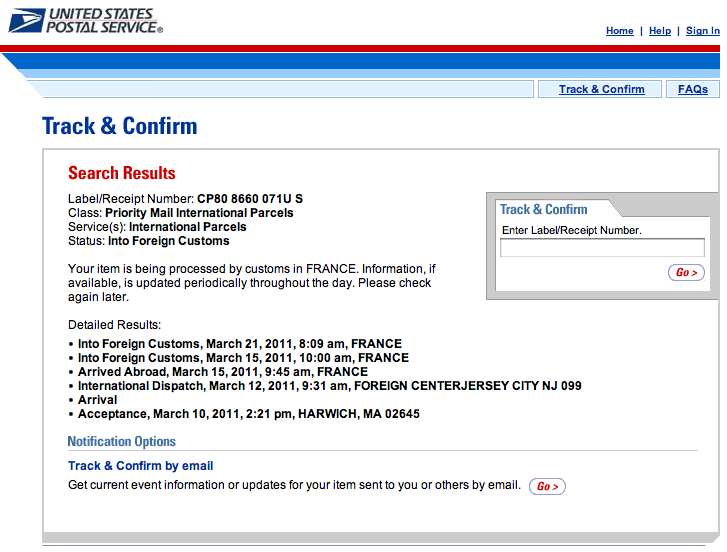 Tracking Number Not Found USPS