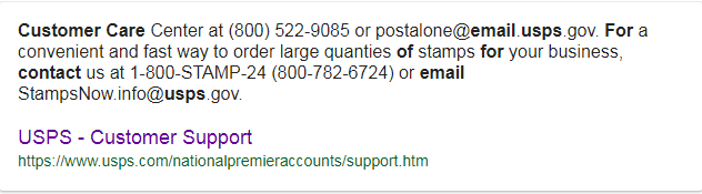 USPS customer service email Address to Contact