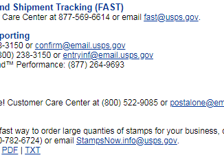 USPS Customer Service Chat Center