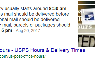 What Time is USPS Delivery Hours Weekdays