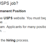 USPS Employment Application To be Accept